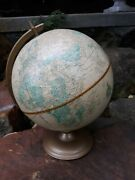 Vintage Crams Imperial 12 World Globe On Metal Stand Mid Century Modern