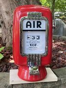 Vintage Eco Air Meter Tireflator Wall Mount With Light