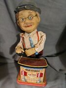 Vintage Charley Weaver Bartender Battery Operated Figure Tin Litho 62 Roy Rogers