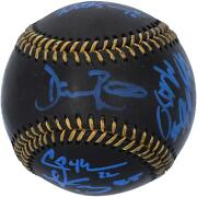 Dodgers 2020 Ws Champs Signed Black Leather Baseball And At Least 6 Sigs - 1/20