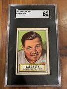 1952 Topps Look 'n See Babe Ruth 15 Sgc 6 Exmt Unbelievable Color Looks Better