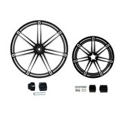 21/23/26/30x3.5and039and039 Front+18and039and039 Rear Wheel Rim Hub Fit For Harley Road Glide 08-21