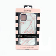 Lumee Duo Instafame Lighted Case For Iphone 11 Pro Max / Xs Max, White Marble