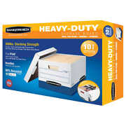 10-pack Bankers Box Heavy Duty File Boxes Letter/legal Tear Resistant