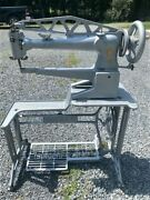Singer 29k60 Long Arm Leather Sewing Machine. Restored With New Paint, Parts