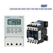Lcd Digital Timer Time Relay And Contactor 2.2-25kw 220v Time Controller Switch