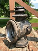 Early Automobile Vintage Carriage Wagon Barn Old Lamp Light Antique Lantern Car
