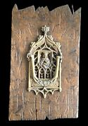 Antique Door Knocker Gothic Style Cathedral Virgin Mary Belgium