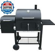 Portable Charcoal Barbecue Bbq Grill Offset Smoker Outdoor Camping Garden Party