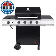 Portable Propane Barbecue Bbq Grill Cart 4-burner Stove Cooking Outdoor Camping