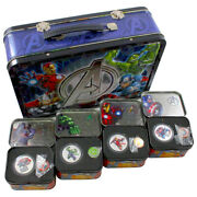 2014 Niue Marvel The Avengers 2 Two Dollar Silver Proof 4 Coin Set Box And Coa