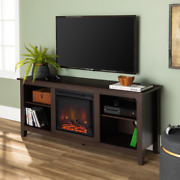 Fireplace Tv Stand Log Set 58 In. 120-volt 4400 Btu/hour Cool To Touch Glass