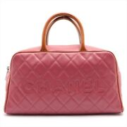 Bordeaux Quilted Patent Leather Handbag Silver Hardware Ladies