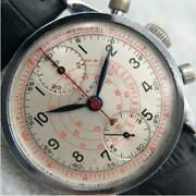 Gallet 2 Counter Chronograph Wristwatch Hand-winding Manual Ss Men's Vintage