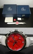 Jacobandco Acm7 Red Dial Chronograph Skeleton Automatic Analog Watch Used Ex++