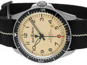 Bell And Ross Vintage Military Automatic White Dial Mens Watch Brv2-92s Auth W/box