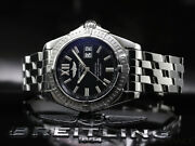 Breitling Cockpit A49350 Watch Automatic Black Dial Ss W/guarantee Card Box Auth