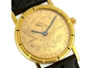 Corum Coin Watch 5 Ladiesand039 Watch K18yg/leather W/acceossorie Rare Authentic