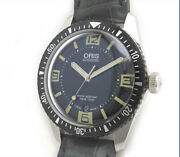 Oris Watch Divers65 Movember Edition 733 7707 Automatic Winding Ss Black Reprint