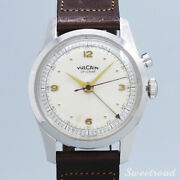 Vulcain Watch Cricket Cal.120 Manual-wind Ss Case 43mm Vintage 1950s Authentic