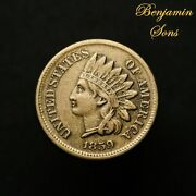 1859 Indian Head Cent 1c Penny, 071721-01 Free Shipping