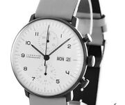 Junghans Max Bill Chronoscope Chronograph Automatic Menand039s Watch Leather