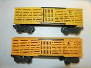 Lionel - O Scale - 2 Lionel Lines Stock Cars 6656