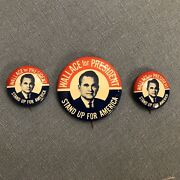 Wallace For President Stand Up For America 1968 Campaign Button Pinback 1 1/2andrdquo