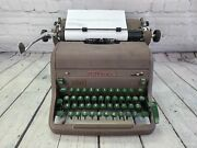 Vintage Royal Hh Pica Typewriter 1953 W/ Green Keys Hhp Tested And Working