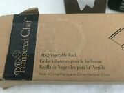 The Pampered Chef Bbq Barbecue Vegetable Rack Grill Steel Prongs 2712 Holds 4