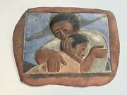 Mid Century Modern Father Keiser Christmas Wall Hanging Studio Pottery Plaque
