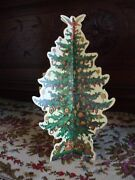 Vintage Christmas Tree Die Cut Merrimack 3d Trees Stand Alone Decorated 9andrdquo