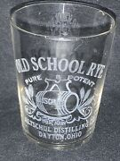 Original Pre Prohibition Etched Old School Rye Whiskey Altschul Ohio Shot Glass