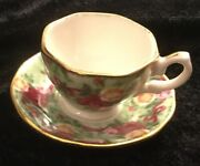 Royal Albert Old Country Roses Ruby Anniversary Green Chintz Cup Saucer Ornament