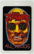 Rob Zombie 2002 Demon Speeding Concert Tour All Access Laminated Backstage Pass