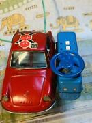 Things At The Time Tinplate Manshiro Mazda R360 Red With Remote Control