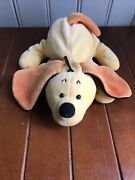 Scholastic Vtg Discontinued My Little Huggy Pup Yellow Dog Puppy Plush 7