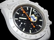 Tutima Men's Watch 7750 Chronograph Automatic Black Dial Stainless Belt Good