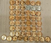1941 Pds - 1958 Pd Mostly Choice To Gem Rd Bu Lincoln Wheat Cent W/bonus Coins