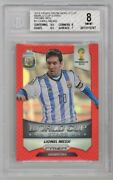 Lionel Messi /149 Red World Cup Stars Bgs 8 2014 Panini Prizm Soccer 1 Argentina