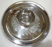 Silverplate Wm Rogers 866a 15 Tray With Attached Center Bowl