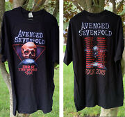 Avenged Sevenfold 2018 End Of The World Tour Tee Mens Xl Metal Band T-shirt