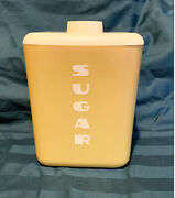 Vintage Lustro Ware Yellow Sugar Storage Canister Plastic 50s 60s With Lid 112
