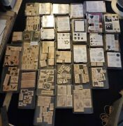Stampin Up Retired 254 Wood Mounted Rubber Stamps 35 Complete Sets Lot