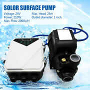 Solar Surface Water Pump Brushless Motor Garden Pond Pool Outdoor 210w 2100l/h