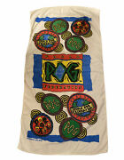 Vintage World Pog Federation Beach Towel Dated 1995 Pogs Toy Very Rare Scarce
