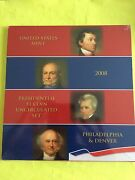 2008 Us Mint Presidential P And D Uncirculated 8-coin Dollar Set