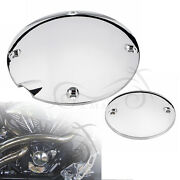 Chrome Derby Clutch Timing Point Cover For Harley Sportster 883 Hugger Xlh883 Us