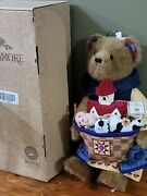 Jim Shore And Boyds Bears 20 Noah W/quilted Ark Plush All Aboard 92006-16