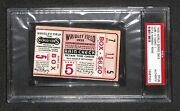 1935 World Series Game 5 Ticket Cubs 1st Ws Win @ Wrigley Field Psa Rare Wow